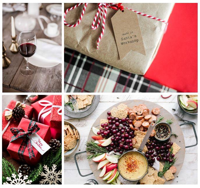 viini joulupöytään